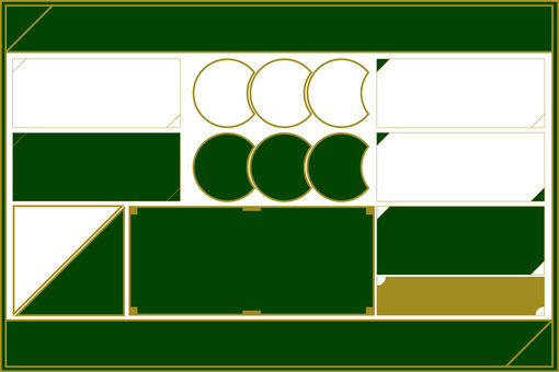 Dark green frame material set