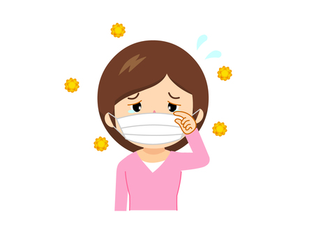 Women with pollen symptoms
