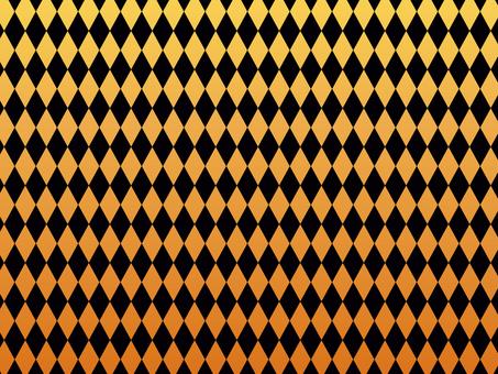 "Diamond pattern ""Orange & amp; black"""