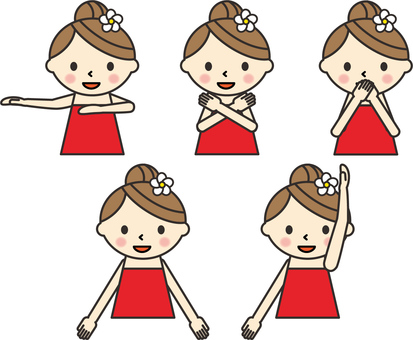 Hula girl dancing hula dance