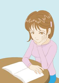 〇〇を読む女性