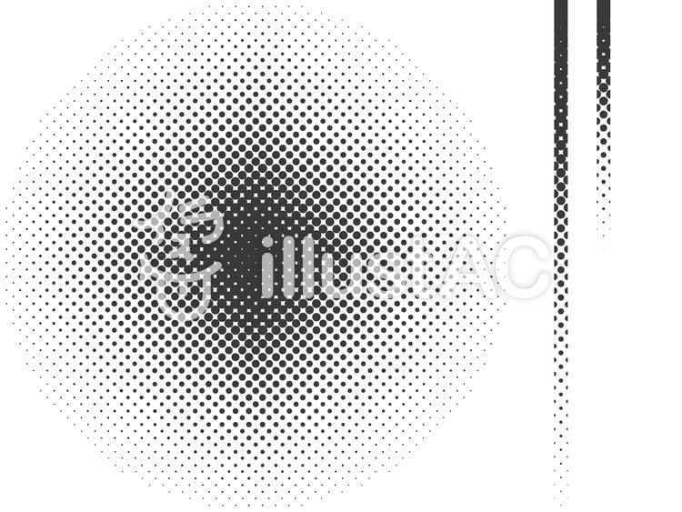 パターン-ドットグラデーションテンプレのイラスト