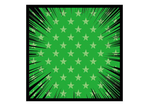 Concentration line _ star _ green