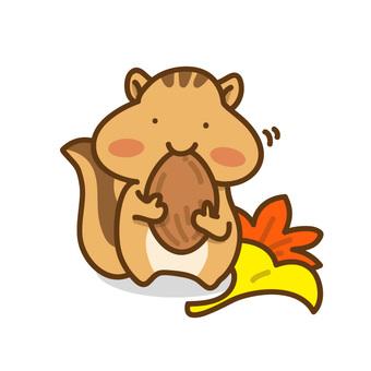 在一棵樹的松鼠的例證