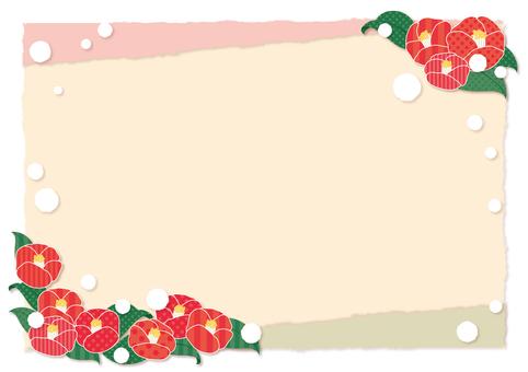 Camellia and snow frame