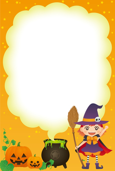 Halloween Witch's experiment frame