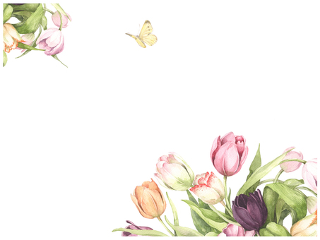 Letter background 11 - Tulip blooming