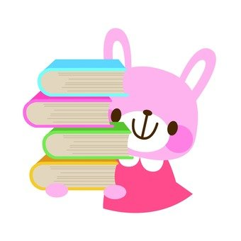 Rabbits with books
