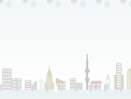 Winter cityscape (day)