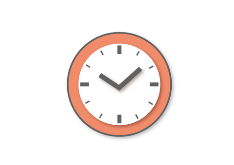Flat design icon clock