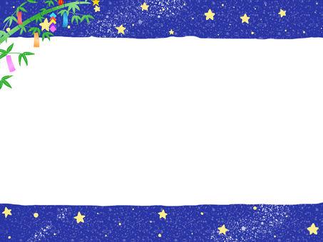 Night image memo pad · frame (Tanabata · blue)
