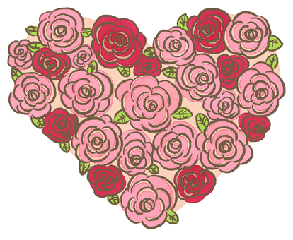 Rose heart (pink)