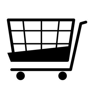 Shopping cart monochrome icon