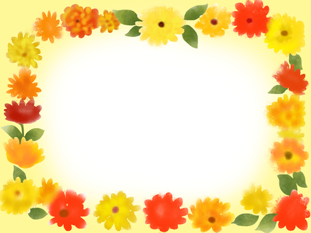 Gold flower (calendula) frame