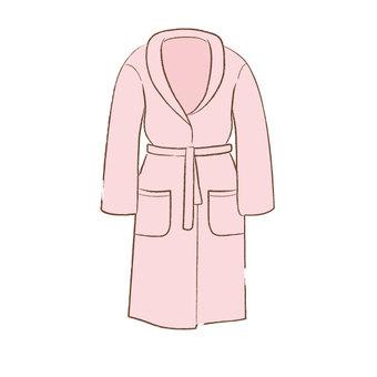 Bath robe (pink)