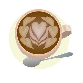 Latte Art · Heart pattern