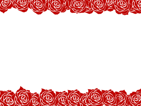 Background Roses silhouette frame