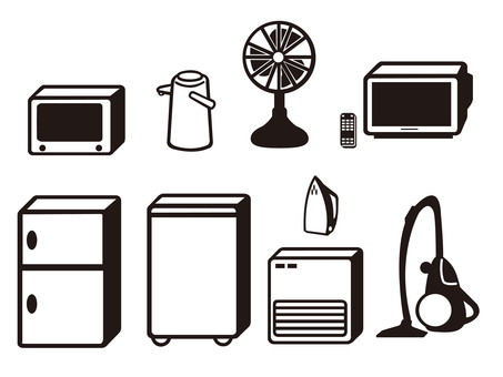 Silhouette _ home appliance set
