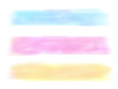 Watercolor wind line