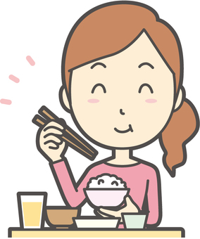 Female-01 - delicious Japanese food - bust