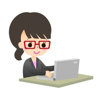 Career woman doing personal computer