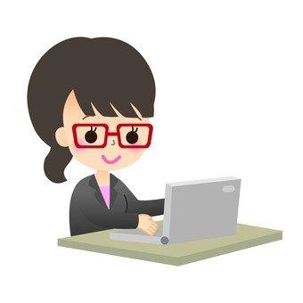 職業女性到個人計算機