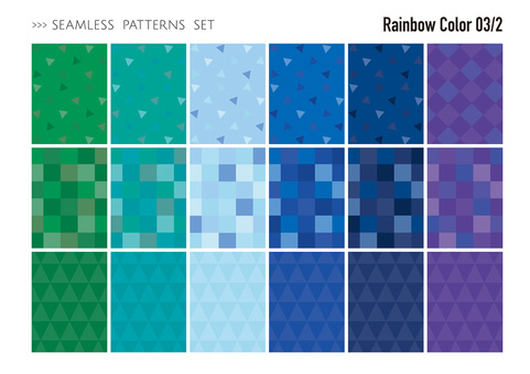 Seamless pattern set / cold color 02