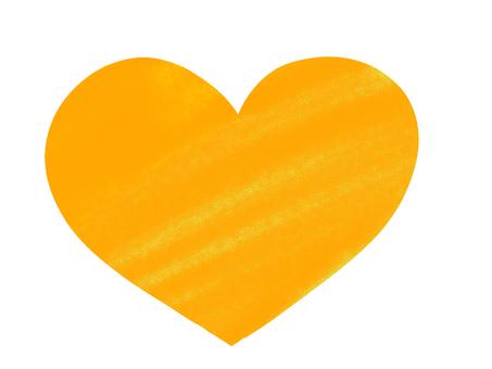 Simple heart yellow