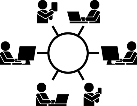 Network illustration pictogram