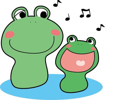 동물 개구리 (2 마리 · 음악)