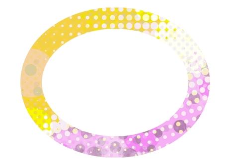 Frame frame color round postcard