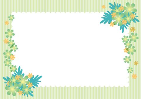 Green flower frame 2