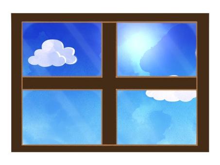 Daytime window illustration