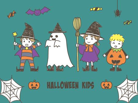 ハロウィンの子ども達