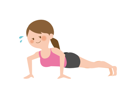 A woman with a push-up (smile)