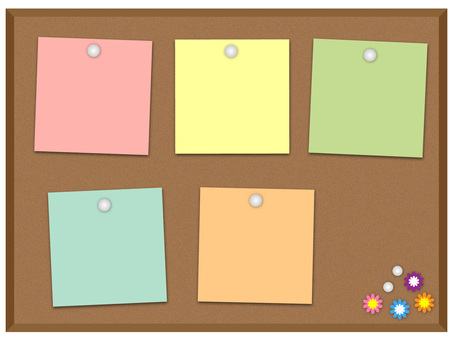 Cork board (colorful)