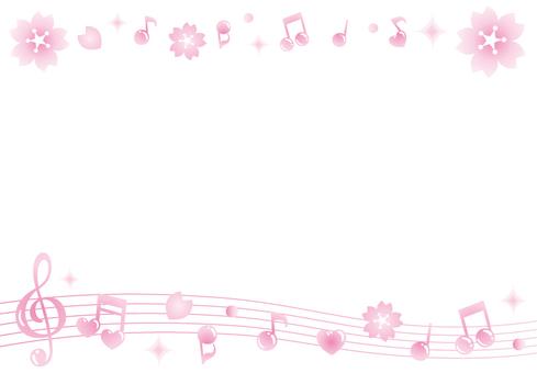 Cherry note frame (line)