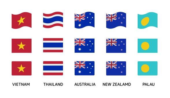 Flag Asia / Oceania