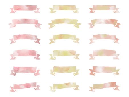 Water color ribbon - warm color