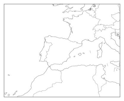 Spain blank map