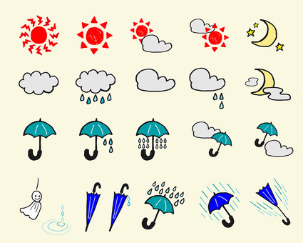 Hand-drawn weather mark
