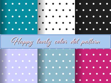 Lovely dot pattern 6 pattern set 13