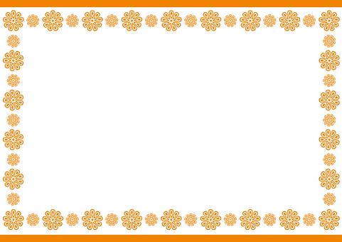 Frame - Box Flower - Orange
