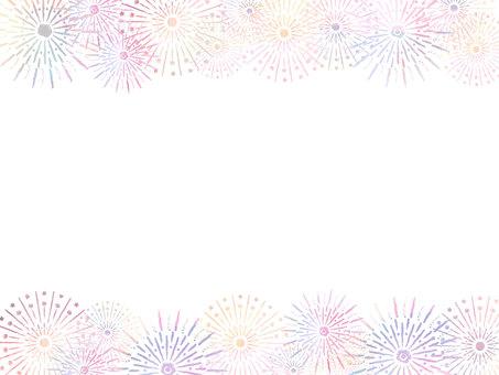 Fireworks frame white background