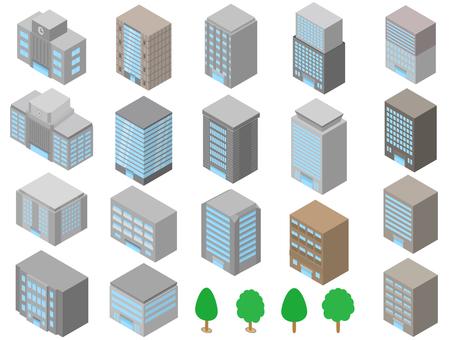 Building building street tree three-dimensional