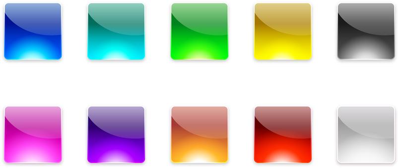 ai glossy icon 10 pieces set