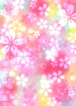 Glitter colorful cherry blossom wallpaper