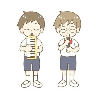 Recorder, keyboard harmonica