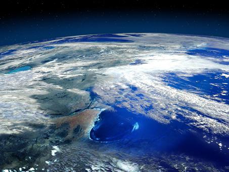 青い地球の海と大陸