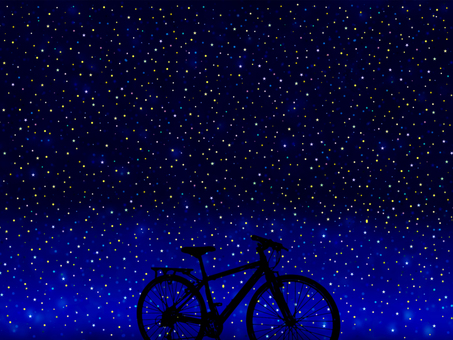 Bicycle in the starry sky